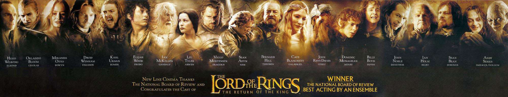 Fellowship Of The Ring Movie Cast